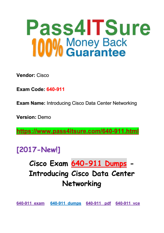 New Updated Most Important Ccna Data Center Dcicn 640 911 Dumps Pdf